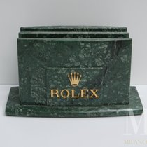 Rolex portacataloghi holder display vintage marbre green