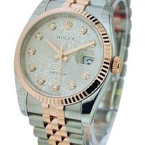 Rolex Unworn 116231 Datejust 36mm 2-Tone Rose Gold and Steel -...