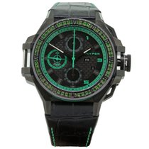 Snyper Ironclad Steel PVD Black & Green with Tsavorite...