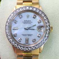 Rolex President 18k Yellow  Gold Band Midsize 31mm Whitegold...