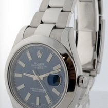 Rolex Datejust II Stainless Steel Blue Dial Mens Automatic...