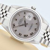 Rolex Datejust Stainless Steel Jubilee Silver Roman Dial 16220