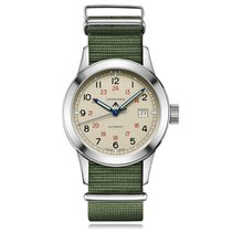 Longines Heritage Military Automatic Stainless Steel Cream...