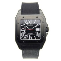 Cartier Santos Stainless Steel Black Automatic WSSA0006