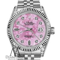 Rolex Woman's Rolex 36mm Datejust Pink Flower Mother Of...