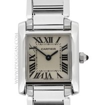 Cartier 18k white gold lady Tank Francaise