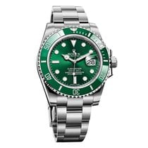 """Rolex Submariner 116610lv """"hulk"""" With Papers"""