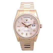 劳力士  (Rolex) Day Date 18k Rose Gold Pink Automatic 118235ACOMP