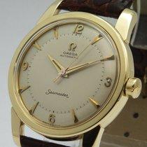 Omega RARE vintage omega bumper seamaster 14k wrist watch men...