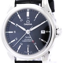Omega Polished Omega De Ville Co-axial Gmt Steel Automatic...