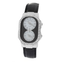 Philip Stein Ladies Philip Stein Teslar 2 Time Zone Steel...