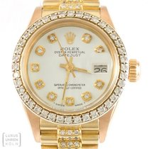 Rolex Uhr Oyster Perpetual Lady Datejust Diamond Bezel &...