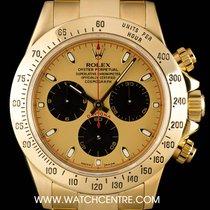 Rolex 18k Y/G Champagne Newman Dial Cosmograph Daytona B&P...