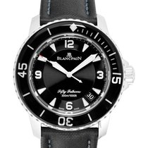 블랑팡 (Blancpain) Fifty Fathoms Automatique Black Steel/Sail-can...