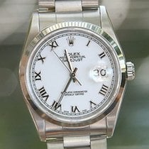 Rolex Mens Ladies Datejust Stainless Steel 36mm 16200 U Raised...