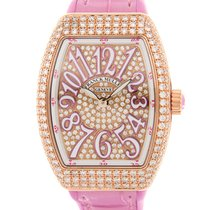 Franck Muller Vanguard 18 K Rose Gold With Diamonds Pink...
