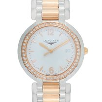 Longines PrimaLuna Quartz Steel/Gold Diamond Ladies Watch –...