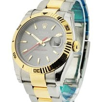 Rolex Used 116263_used_oyster_Rhodium Mens 2-Tone Turn-O-Graph...
