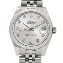 Rolex Datejust Stainless Steel 31mm Silver Diamond Dial