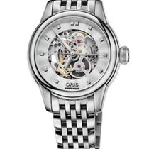 Oris Artelier Skeleton Diamonds 31mm Leather Bracelet