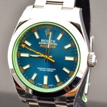 Rolex MILGAUSS  BLUE DIAL VETRO VERDE NEW 2015