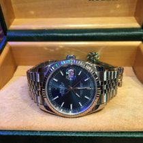 Rolex Datejust Ss & White Gold Watch Blue Dial Ref:116234....