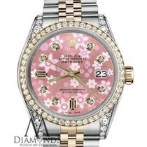 Rolex Ladies Rolex 26mm Datejust 2 Tone Pink Flower Mop Mother...