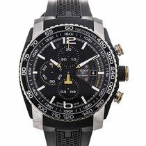 Tissot PRS 516 Automatic Chronograph Black Dial Black Rubber...