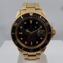 Rolex vintage 1997 SUBMARINER ref 16618 Gold 18 ct