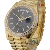Rolex Unworn 228348 Day Date 40mm in Yellow Gold with Diamond...