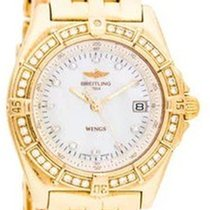 Breitling K67050 WIndrider Wings in Yellow Gold - on Yellow...
