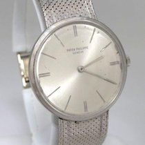 Patek Philippe Mens Vintage 18k White Gold  Geneve Silver Dial...