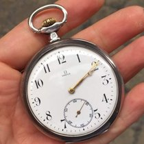Omega Vintage Pocket Watch Manuale tasca silver argento sterling