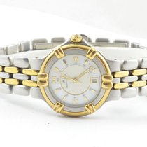 Maurice Lacroix Calypso Damen Uhr Stahl Vergoldet Quartz 25mm 10