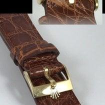 Ρολεξ (Rolex) ROLEX 18k GOLD 16mm Logo Buckle Cognac Genuine...