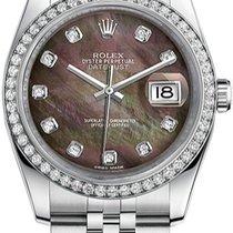 Rolex New Style Datejust Stainless Steel Custom Diamond Bezel...