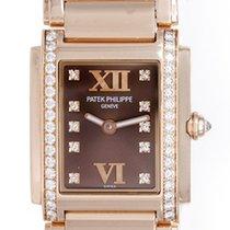 Patek Philippe Twenty-4 Mini 18k Rose Gold Diamond Ladies...