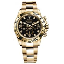 Rolex DAYTONA 18K Yellow Gold Black Diamond Dial