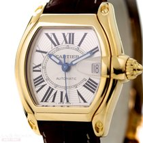 Cartier Roadster Automatic Ref-2524 18k Yellow Gold Box Papers...