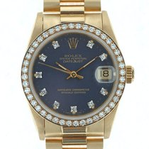 Rolex Medio Datejust Oro Diamanti President 01/1990 COME NUOVO a