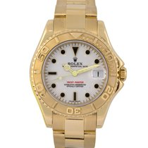 Rolex Midsize 18k Yacht-Master with White Dial, Ref: 168628