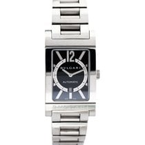 Bulgari RT 45 S Rettangolo in Steel - on Steel Bracelet with...