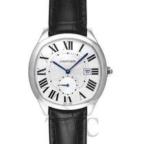 Cartier Drive de Cartier Silver Steel/Leather - WSNM0004