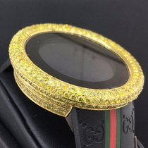 Gucci Digital 50mm GMT 2nd Time Zone 14CT Total Diamonds Ref....