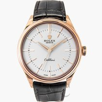 ロレックス (Rolex) Cellini Time White/Leather Ø39mm - 50505