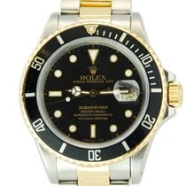 Rolex Submariner Date Two Tone 18kt Yellow Gold/SS - 16803