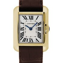 Cartier W5310028 Tank Anglaise Small - Yellow Gold on Strap...