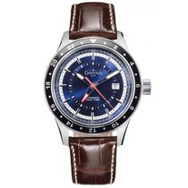 Davosa World Traveller Automatic Stahl 44mm