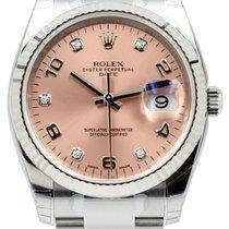 Rolex Oyster Perpetual 115234-PNKDFO 34mm Pink Diamond Arabic...