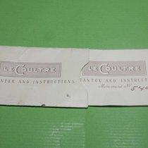 Jaeger-LeCoultre vintage 1950 1960 warranty  papers memovox rare